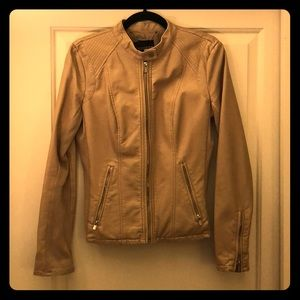 Camel faux leather jacket